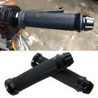 Black Handlebar Hand Grips 7/8'' 22mm Rubber Gel For Honda Sport Bike Motorcycle