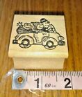 TRAVELING FROG FAMILYadorable chunky stamp rubber stampwood mount