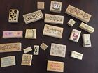 Rubber Stamps Season Theme Lot Of 22 Christmas Fall Spring Birthday etc