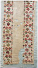 Antique Textile Fragment - Flowers and Trees Pattern