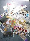 Scrapbooking Sticker Dimensional Lot MIxed USA Nature BUtterflies Fish Collage