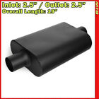 High Flow Two Chamber Muffler 25 inches Center In Out Black 212240