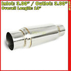 9 inch Resonator Muffler Glass Pack 3 inches In Out Stainless Steel 212244