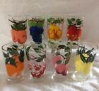 Retro Vintage Rare Pattern 10 oz. Orchard Fruit Beverage Glasses