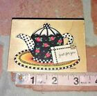 JUST FOR YOU TEA POTall night mediaMARY ENGELBREITrubber stamp wood mount