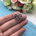 5pcs Heart Charms Tibet silver Charms Pendants DIY Jewellery Making crafts