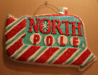 GLITTER Neon North Pole Sign Wall Figurine Decoration Chirstmas 23x16x2