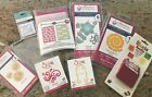 Mixed Embossing Folders and Dies Lot Spellbinders Sizzix Cuttlebug