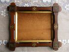 NICE Antique Eastlake era Carved Wood Picture Frame with Early Glass fits 8 x 10