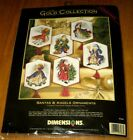 Dimensions Gold Collection NEW Santas  Angels Ornaments Cross Stitch Kit  8568