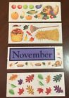 Lot Of 4 Creative Memories Fall Stickers