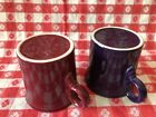 HLC Fiestaware Red & Blue Coffee Mugs, Tom and Jerry Ring Handle, Set of Two