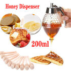 Acrylic Honey Pot Syrup Jar Dispenser Bee Hive Kitchen Holder Container 200ml