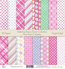 Pattern Paper Pack Valentine Day Basics Scrapbook Card Stock Single Sided