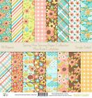 Pattern Paper Pack Spring has Sprung Scrapbook Card Stock Single Sided 12
