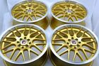 17 gold wheels Corolla Escort Cobalt Aveo Yaris Fit Cooper CL 4x100 4x114.3 Rims