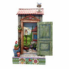 Jim Shore Potters Shed Door with Scene All Things Grow with Love NIB 4057691