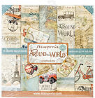 Stamperia Double Sided Paper Pad 12X12 10 Pkg Around The World 10 Designs 1 E