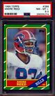 1986 Topps Football — Andre Reed (Rookie) #388 — PSA 8.5