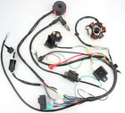 50CC 125CC Mini ATV Complete Wiring Harness CDI STATOR 6 Coil Pole Ignition Elec