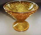 Indiana Glass amber Diamond Point compote candy dish excellent