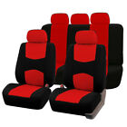 Red Blue Gray Beige Black 9 Pc Universal Durable Auto Car Seat Covers New