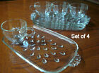 8 pc Vintage Informal (Clear,Teardrop) by Hazel-Atlas Snack Tray Plates Sets