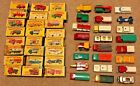 VINTAGE Matchbox lot of 24 vehicles total with boxes