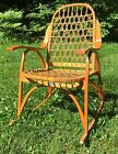 Wonderful Vintage SNOCRAFT Snow Shoe Norway Maine Rocking Chair Home Decor