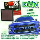 K&N 33-2385 Drop In Performance Replacement Air Filter 2009-2018 Ford F150