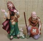 Thomas Kinkade Nativity Set of 2 Figurines Tending the Flock  Humble Offering