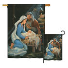 Nativity Winter Decorative House Garden Flags Set US Made