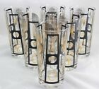 Mid-Century Modern Fred Press Feather HighBall Glass set of 6
