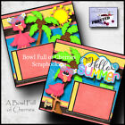 HELLO SUMMER 2 premade scrapbook pages paper piecing printed layout CHERRY 0002