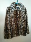 Womens Beautiful Vintage PACIFIC ROSE Faux Leopard Coat Size Small