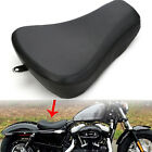 Black Driver Solo Seat Leather For Harley Sportster Iron XL 1200 883 2007 2014