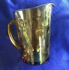 Vintage Amber Glass Thumbprint Bubble Dots Iced Tea Water Pitcher