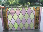 Antique stained glass window church 160 year old 1858
