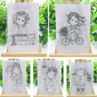 Lucky Girl Cutting Dies Transparent Silicone Clear Stamp DIY Scrapbook Embossing