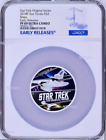 850 Mintage 2018 Star Trek The Original Series Ships 2oz Silver Coin NGC PF69 ER