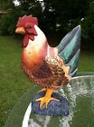 Vintage Hand Carved And Hand Painted Folk Art Rooster Chicken