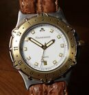 Excellent Mid Size Maurice Lacroix 18K & Stainless Steel Divers Wrist Watch