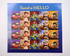 Pixar Send A Hello Disney Toy Story Cars Wall-E UP USPS Forever Stamps Sheet 20