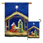 Nativity of Jesus Winter Decorative House Garden Flags Set US Made