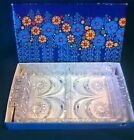 Vintage Walther Kristallglas Sectional Serving Tray or Large Trinket Tray, NIB