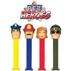 Pez Emergency Heroes Carded Dispensers Nurse, Police, Firefighter, And Military