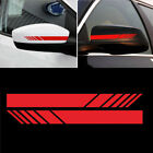 2pcs Universal Car Rearview Mirror Sticker Racing Reflective Decal Sport Decor