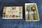 VINTAGE JACK AND JILL FORK AND SPOON SET;STRATFORD PLATE SPECIAL;ORG. BOX