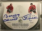 Bobby Hull - Stan Mikita, Dual Auto Autograph Card, 2011 SP Authentic # 50