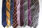 LOT OF 24 IKE BEHAR  MEN'S TIE 100% SILK -COTTON MADE IN USA-CHINA